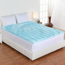 Orthopedic Foam Mattress Topper 2 Inch Gel Pad Cover Memory Bedding Queen Size