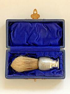 1931 London Solid Sterling Silver Gentlemans Shaving Brush ~ Boxed ~ BMC