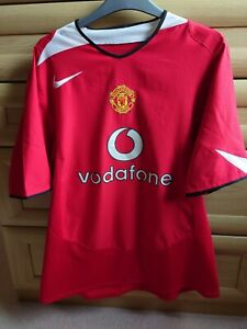 💥 Manchester United Home 2004/06 Ronaldo 7. Champions League edition. Large 💥
