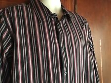 Structure Dress / Casual, Size XL 44-46, Black w/Red Stripe, Long Sleeve, Cotton