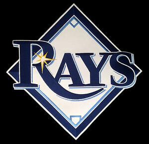"TAMPA BAY RAYS MLB BASEBALL HUGE 15"" TEAM LOGO PATCH"