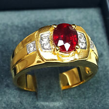 1.85 ct. Premium Natural Africa Red Ruby 925 Sterling Silver Engagement Ring