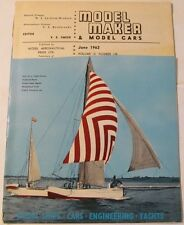 Model Maker & Model Cars Magazine, June 1962, Slot Cars, Ships, Boats