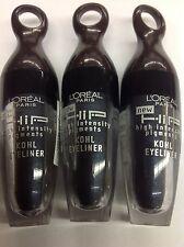 3 X L'Oreal HiP Kohl Eye Liner NAVY KOHL #207 NEW.