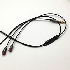 Replacement Cable with Remote Mic for Samsung Galaxy S3 to Sennheiser IE8 IE 80
