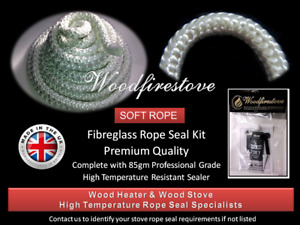 (15mm) WOOD FIRE STOVE & HEATER Fibreglass ROPE SEAL KIT 2 Metres *FREE SHIPPING