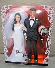 NRFB BARBIE MATTEL ELVIS AND PRISCILLA WEDDING DAY BARBIE DOLL'S GIFTSET DAMAGE
