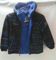 222aae36f ZEROXPOSUR Boys red black winter jacket coat with hood size L  7 ...