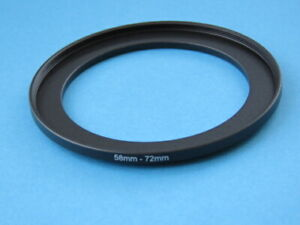 58mm to 72mm Step Up Step-Up Ring Camera Lens Filter Adapter Ring 58mm-72mm