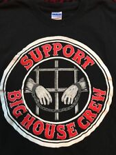 EXTREMELY RARE Hells Angels Big House Crew Large Tshirt Support 81