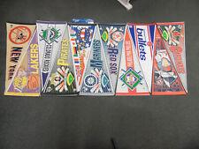 New listing Vintage 11 Lot Of 1970,1980,1990'S Nba Basketball /Mlb Baseball Pennant Flag Set