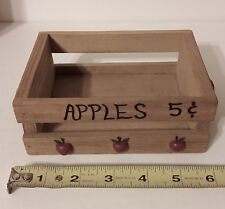 New listing Adorable Miniature Decorative Wood Crate Apples 5 Cents!