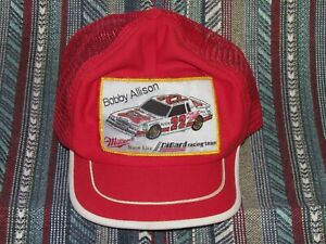Vintgae Bobby Allison Miller High Life Trucker Style Cap Hat DiGard Racing.