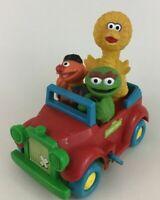 Sesame Street Wind up Car Jalopy Toy Oscar Ernie Big Bird illco Vintage Muppets