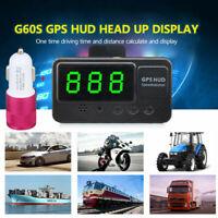 Auto HUD Head Up Display GPS Geschwindigkeit Tachometer Speed Warning +Ladegerät