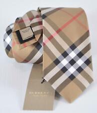 New Burberry Men's $190 Manston Classic Nova Check Silk Neck Tie
