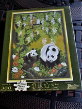 """Pastime Puzzles """"Giant Panda"""" 300 Piece Puzzle with 30 Whimsy pieces New18""""x24"""""""
