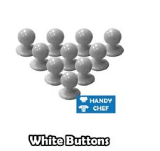 Chef's Jacket Buttons - White Chef Buttons - Brand New - 10 Chef Buttons