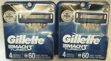 2) New Gillette Mach3 Turbo Blades for Razor 2-4 Packs TOTAL = 8 Cartridges