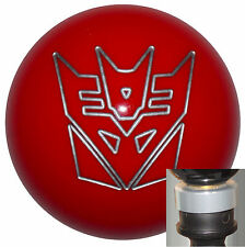 Transformers Decepticon Red shift knob w/ silver adapter kit fits new Dodge Dart