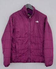 Women The North Face Jacket Padded Purple Breathable L ZNA53