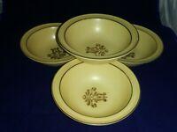 Pfaltzgraff Village Rim Pattern 1970's Soup Cereal Bowls Set of 4 Vintage  6 1/8