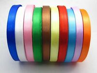 "250 Yards 10mm (3/8"") Mixed Colour Satin Ribbon Gift Bow Wedding Craft"