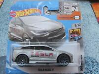 "Hot Wheels 2018 #247/365 TESLA MODEL X grey ""Energy"" HW Metro"