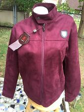 NWT AE Emporio Collezioni New Collection Men's sz.L Burgundy Suede Jacket Italy
