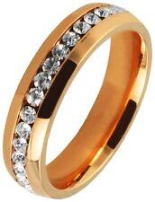 Modeschmuck-Ringe im Band-Stil mit Kristall-Hauptstein für Damen
