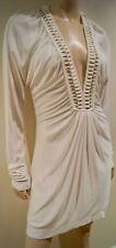 Alice by Temperley Inverno Bianco Tuffo v Oro Bauble scollo arricciato mini abito