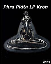 Phra Pidta LP Kron Wat Bangsax Thai Magic Amulet Pendant Talisman Old Case K365
