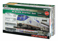 KATO 1060017 N AMTRAK P42 SUPERLINER STARTER SET WITH UNITRACK POWER PK 106-0017