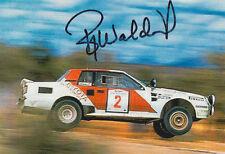 Bjorn Waldegard Toyota Hand Signed Promo Card Rally.