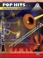 Pop Hits for the Instrumental Soloist for Strings: Violin, Book & CD-ExLibrary