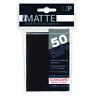 Ultra PRO Pro-Matte Deck Protector Sleeves BLACK Standard Card 50ct 66 x 91mm