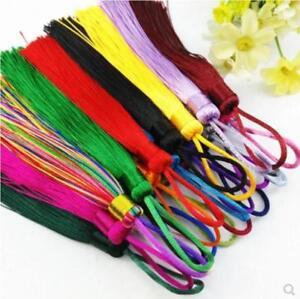 V01 (1,10 pcs) 12cm Long tassel material(use for earring bookmark runner dress)