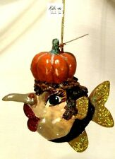 Katherine's Collection~Gold Witch Kissing Fish~Halloween Ornament~Philippines