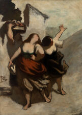 The Ribalds by Honoré Daumier 60cm x 43cm Art Paper Print