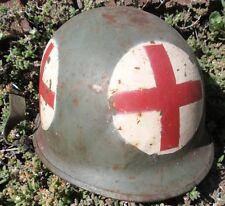 WW II US M1 SCHLUETER SHELL & ARGENTINA LINER FALKLAND MALVINAS WAR MEDIC HELMET