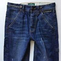 Mens SuperDry Relaxed Cargo Straight Leg Faded Blue Jeans W30  L32 (578)