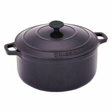 Chasseur Cast Iron 37232EG French Casserole with Lid, Eggplant