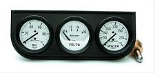 Autometer Gauge Kit  Console 2 1/16 Water Temp Voltmeter Oil PSI Kit 2327
