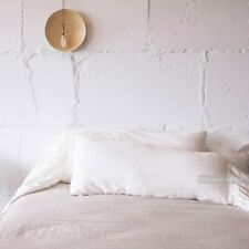 BODY PILLOW SHAM with LONG RUFFLE stonewashed pillow case, linen pillow cover