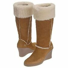 UGG® AUSTRALIA SANDRA 5449 CHESTNUT SHEEPSKIN KNEE HIGH BOOTS UK 8.5 41 RRP £350