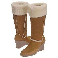 UGG ® Australia Sandra 5449 Chestnut Pelle di Pecora Stivali al Ginocchio UK 8.5 41 RRP £ 350