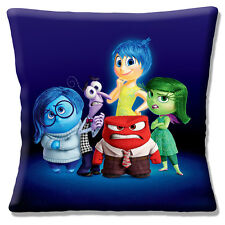 "INSIDE OUT Disney Film Anger Fear Disgust Sadness & Joy 16"" Pillow Cushion Cover"