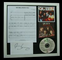 QUEEN+MERCURY+MAY+We Rock You+SIGNED+QUALITY FRAMED=100% GENUINE+FAST WORLD SHIP