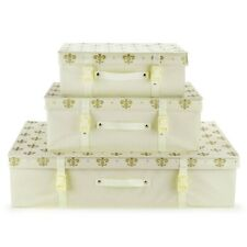 Hangerworld™ Bridal Ivory Fleur de Lis Storage Box Lid Wedding Dress