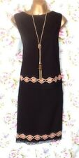 Wallis Size 14 Faux Suede Skirt And Top Crochet Boho Pencil